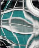 Green and silver abstract glass design royalty free stock image