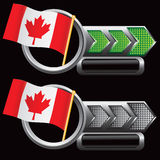 Green and silver arrows with canadian flags stock illustration
