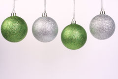 Green and silver ornaments 2 Stock Images