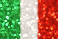 Green, silver, red vertical stripes abstract background Stock Photo