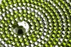 Green and silver texture Stock Photos