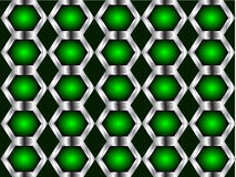 A Green and Silver tileable vector background Royalty Free Stock Images