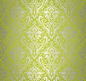 Green & silver vintage wallpaper vector illustration