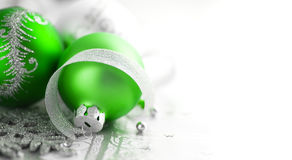 Green and silver xmas decoration Royalty Free Stock Photo
