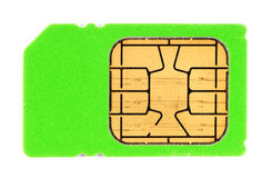Green SIM card Stock Image