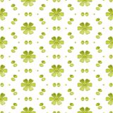 Green Simple Floral Seamless Background Royalty Free Stock Photos