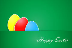 Green simple Happy Easter card vector Royalty Free Stock Photography