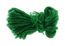 Green six strand floss Royalty Free Stock Images