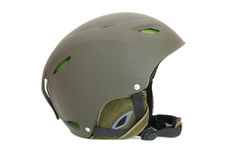 Green ski helmet Royalty Free Stock Photo