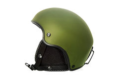Green Ski Helmet Royalty Free Stock Photos