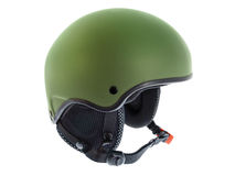 Green Ski Helmet Stock Photos