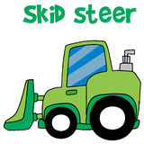 Green skid steer cartoon vector Royalty Free Stock Photos