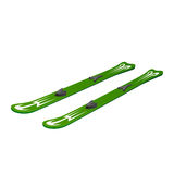 Green skiing on white background Royalty Free Stock Images