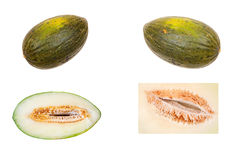 Green-skinned melon Stock Photo