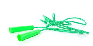 A green skipping rope Stock Photos