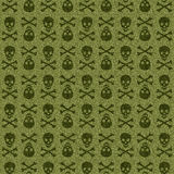 Green Skull. The graphical design in green skull texture Stock Images