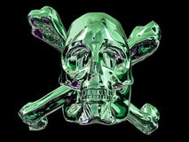Green skull and bones Royalty Free Stock Photo