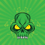 Green Skull Royalty Free Stock Photography