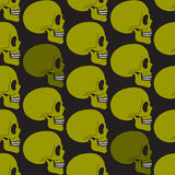 Green skull seamless pattern Stock Photo