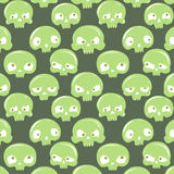 Green skulls pattern Royalty Free Stock Photography