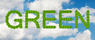 Green sky concept Royalty Free Stock Image