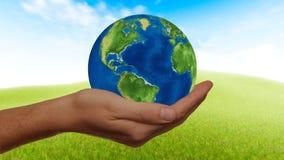 Green, Sky, Globe, Grass stock photo