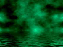 Green Sky & Water. Beautiful Green Sky And Water Fantasy Background Stock Images