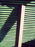 Green slated wood and girder Stock Photos