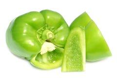 Green Slice Capsicum royalty free stock photos