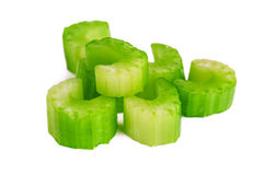 Green sliced celery Royalty Free Stock Photos