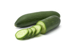Green sliced cucumber Stock Image