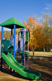 Green Slide in Autumn Royalty Free Stock Image