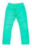 Green slim male jeans Stock Images