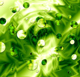 Green Slime. Circles Texture Background Illustration Stock Photography