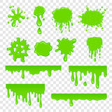 Green slime set. On a white stock illustration