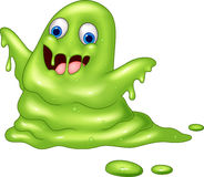 Green slimy monster cartoon Royalty Free Stock Images