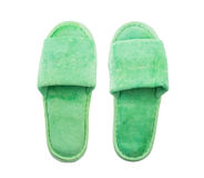 Green slippers Stock Photography