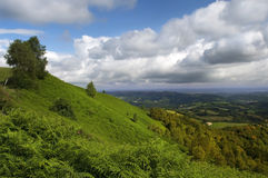 Green slopes of the French Pyrenees Royalty Free Stock Photo