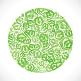 Green small arrow icon design Stock Photo