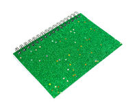 Green small notebook Royalty Free Stock Images
