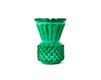 Green small vase. On the white background royalty free stock images