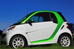 Green Smart Electric Car Royalty Free Stock Photo