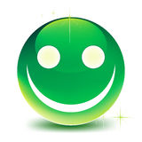 Green smile Royalty Free Stock Images
