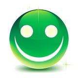 Green smile stock illustration