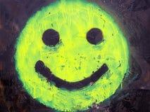 Green Smiley Stock Photo