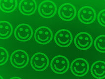 Green smilies Stock Image