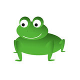 Green smiling frog Royalty Free Stock Photography