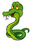 Green Smiling Snake Stock Images