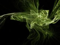 Green smoke. Abstract background: green smoke; computer generated fractal design Royalty Free Stock Image