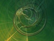Green smoke - abstract. Digital fractal background imitating smoke Stock Photos